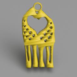 Descargar modelos 3D gratis Pendientes Jirafa, IdeaLab