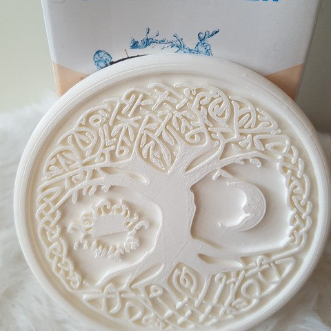 20190324_171337.jpg Download free STL file Celtic tree of Life drink-coaster (version 2) • 3D printer object, IdeaLab