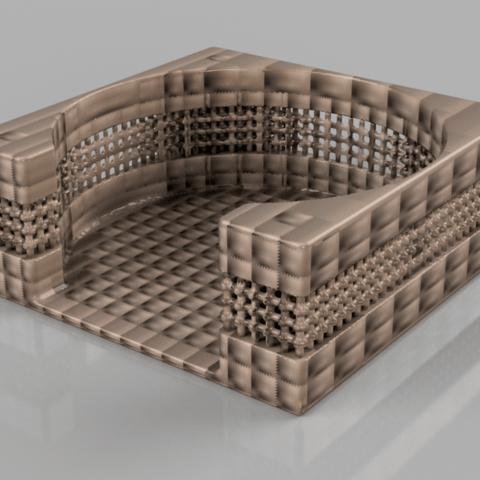 coasterholder v6 B.png Download free STL file Coasterholder lattice pattern • 3D printer template, IdeaLab