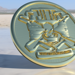 Download free 3D printer model PUBG drink-coaster, IdeaLab