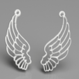 Download free 3D printing designs Angel wing earrings, IdeaLab
