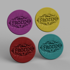 frozen.png Download free STL file Drinkcoaster Frozen • 3D printing object, IdeaLab