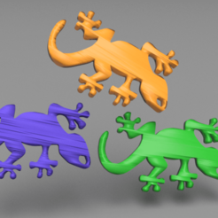 gecko.png Download free STL file Gecko earrings • 3D print model, IdeaLab