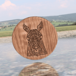 horse v3.png Download free STL file Artistic horse drinkcoaster • 3D printable template, IdeaLab