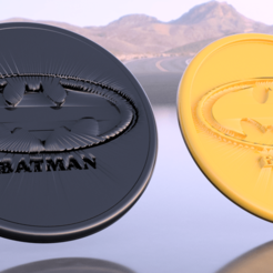 Free 3D model Batman drinkcoaster pair, IdeaLab