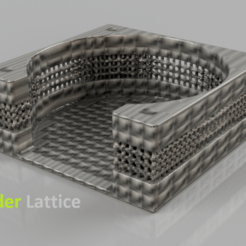Free STL files Coasterholder lattice pattern, IdeaLab