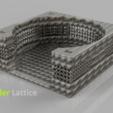 v6 1.png Download free STL file Coasterholder lattice pattern • 3D printer template, IdeaLab