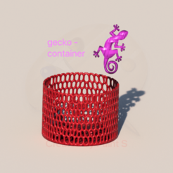 gecko v3 finish.png Download free STL file Gecko container • Model to 3D print, IdeaLab
