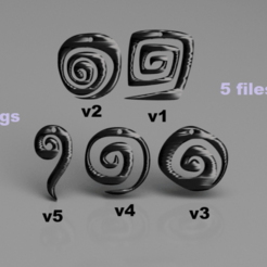 spiral v2.png Download free STL file Spiral earrings (set) • 3D print object, IdeaLab