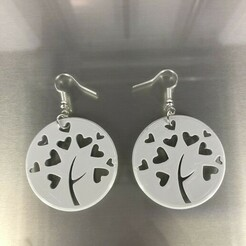 IMG_4745.jpg Download free STL file Heart tree earrings • 3D print object, IdeaLab
