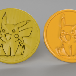 Free STL files pikachu coaster (pair), IdeaLab