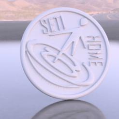 seti.png Télécharger fichier STL gratuit Dessous de verre Seti@home • Modèle pour imprimante 3D, IdeaLab