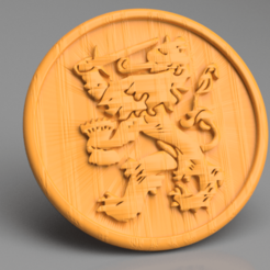 Download free 3D printer templates Lion coaster, IdeaLab