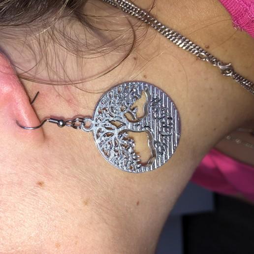 Download free STL file Celtic tree earrings, IdeaLab