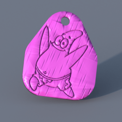 patrick.png Download free STL file  Patrick keychain (Spongebob) • 3D printer design, IdeaLab