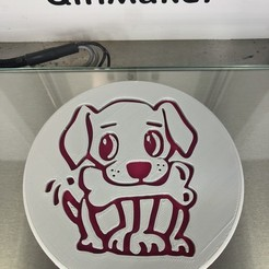 IMG_4251.jpg Download free STL file Puppy drinkcoaster • 3D printable model, IdeaLab