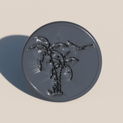 palmtree coaster.png Download free STL file Palmtree coaster • 3D printer template, IdeaLab