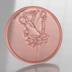 rose 3.png Download free STL file Coaster with rose (pair) • 3D printer template, IdeaLab