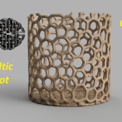 Download free 3D printer designs Celtic knot container, IdeaLab