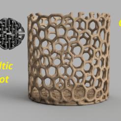 Télécharger fichier 3D gratuit Récipient à noeuds celtiques, IdeaLab