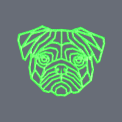 pug.png Download STL file Artistic 'Pug' • 3D print design, IdeaLab
