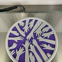IMG_4285.jpg Download free STL file Coaster: 'helping hands v2' • 3D print template, IdeaLab