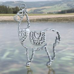 llama earring.png Download free STL file Llama earrings • 3D printable object, IdeaLab
