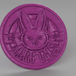 nerf this.png Download free STL file Nerf this coaster (overwatch) • Model to 3D print, IdeaLab