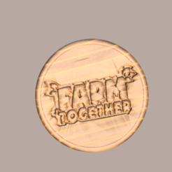 """farm together v2.png Télécharger fichier STL gratuit Sous-verre """"Farm Together • Design pour imprimante 3D, IdeaLab"""