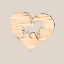 horseheart.png Download free STL file Earring: horse heart • 3D printer template, IdeaLab