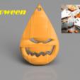 Download free STL file Halloween earrings: 'scaryface', IdeaLab