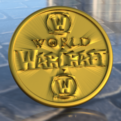 Download free 3D model World of Warcraft coaster, IdeaLab