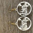 Download free 3D printing templates Happy birthday earrings, IdeaLab