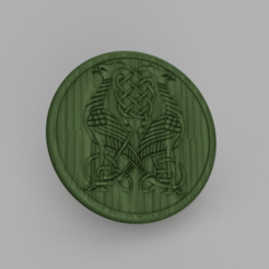 peacock.png Download free STL file Celtic Peacock drinkcoaster • 3D printable model, IdeaLab