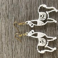 Download free 3D print files Llama earrings, IdeaLab
