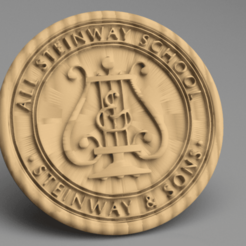 Steinway.png Download free STL file Steinway coaster • 3D printing object, IdeaLab