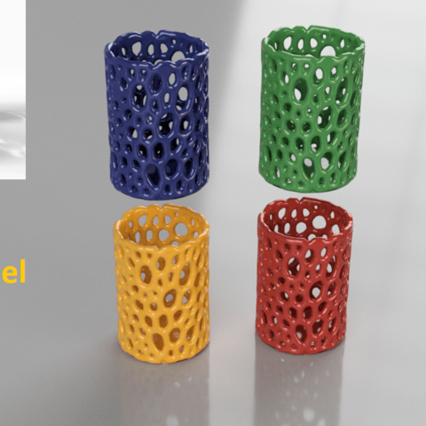 Download free 3D printer designs Foaming Gel container (voronoi pattern), IdeaLab
