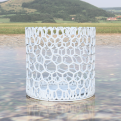 Download free 3D printer files multi purpose storage container (with voronoi pattern) , IdeaLab