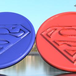 Modèle 3D gratuit Paire de sous-verres Superman, IdeaLab