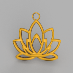 lotus.png Download STL file Earring 'Lotus flower' • Model to 3D print, IdeaLab