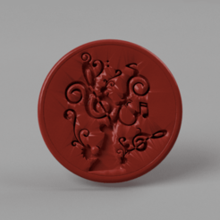 musictree.png Download free STL file Musictree coaster • 3D print template, IdeaLab
