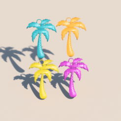 palm.png Download STL file Palmtree earrings • 3D printing object, IdeaLab