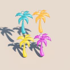 Download STL file Palmtree earrings • 3D printing object, IdeaLab