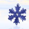 Impresiones 3D gratis Pendientes de copo de nieve, IdeaLab