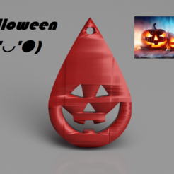 Download free 3D printer designs Halloween earrings: 'scaryface v2', IdeaLab