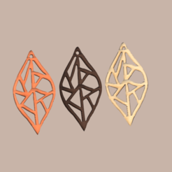 leaf v2.png Download STL file earrings 'leaf art' • 3D printer object, IdeaLab