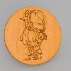 droopy.png Download free STL file Droopy detective drinkcoaster • 3D printing design, IdeaLab