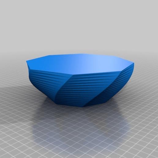 Download free 3D printer files Twisty Bowl, xekojm