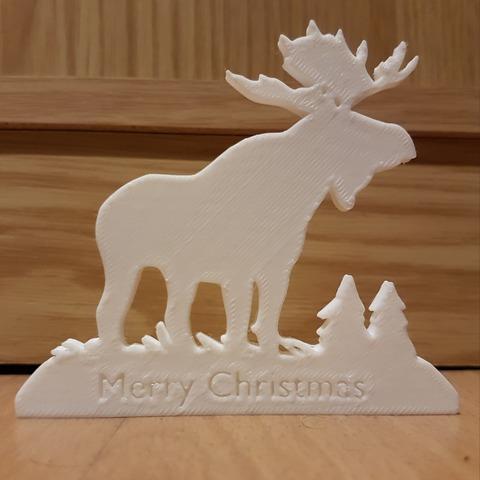 Download free 3D printing models Merry Christmas Moose , Peter-Jan