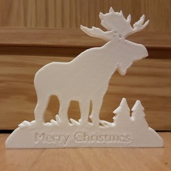 Moose.jpg Download free STL file Merry Christmas Moose  • 3D print model, Peter-Jan